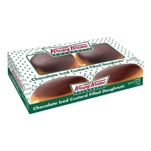 Krispy Kreme Doughnuts Krispy Kreme Chocolate Iced Custard Filled Doughnuts, 2 count, 4.65 oz