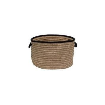 Colonial Mills Boat House Tweed Black 18 x 12-Inch Basket