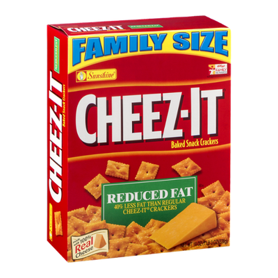 Sunshine Cheez-it Baked Snack Crackers Family Size Reduced Fat
