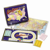 Geo Derby USA Board Game