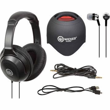 Wicked Audio Triad Headphones/Mini Speaker Bundle Black - M-SQUARED