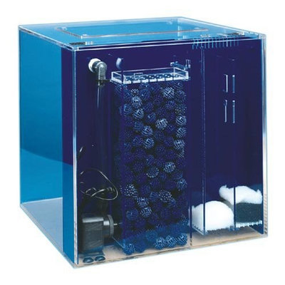 Uniquarium Cube Aquarium Sapphire Blue, Size: 10-Gal (12W x 12D x 16H in.)