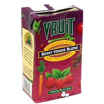 Vruit Berry Veggie Juice, 32-Ounce (Pack of 12)