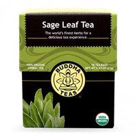 Buddha Teas Sage Leaf 100 Percent Organic Herbal Tea 18 Bags Per Packet