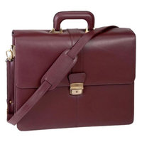 Royce Leather Leather Legal Briefcase w Adjustable Shoulder Strap & Gold Tone Buckle
