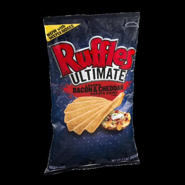Ruffles Potato Chips Ultimate Loaded Bacon & Cheddar Potato Skins
