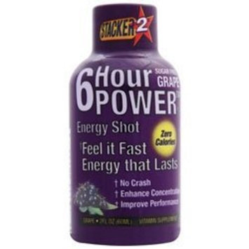 NVE Pharmaceuticals - 6 Hour Power Energy Shot Grape, 2 oz drinks