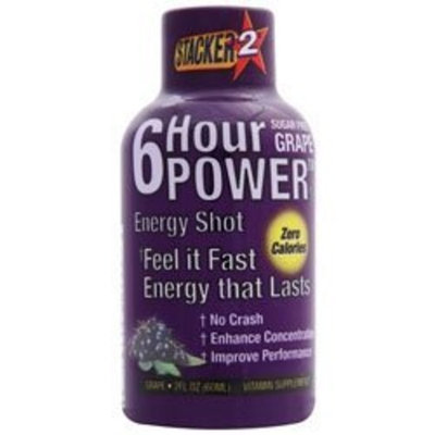 NVE Pharmaceuticals - 6 Hour Power Energy Shot Grape, 2 oz drinks