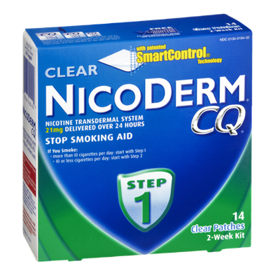 NicoDerm CQ Clear 2-Week Step 1 Stop Smoking Aid Patches - 14 CT