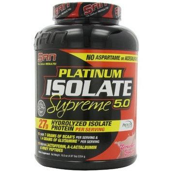 San Nutrition SAN Platinum Isolate Supreme, Strawberry Yogurt, 5 Pound