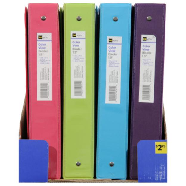 DG Office Binder 1.5 in - assorted colors