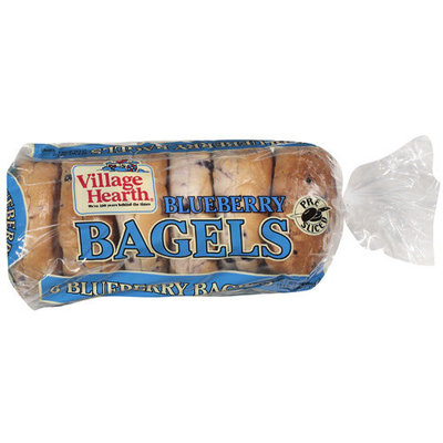 Village Hearth Blueberry Bagels, 24 oz