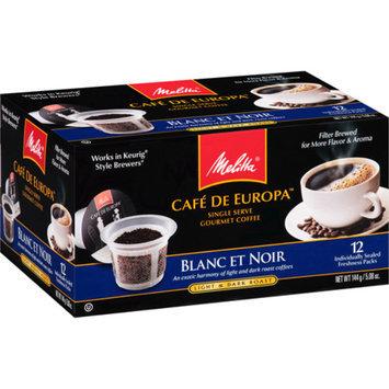 Melitta Cafe de Europa Prefill Capsules Blanc et Noir, 12 ea