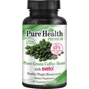 Pure Health Pure Green Coffee Bean with Svetol Vegetarian Capsules, 800mg, 90 count