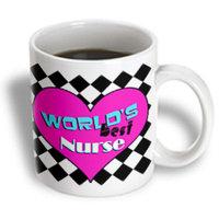 Recaro North 3dRose - Janna Salak Designs Worlds Best - Worlds Best Nurse - Pink - 11 oz mug