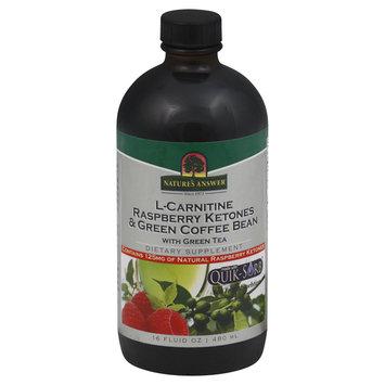 tures Answer Nature's Answer - L-Carnitine Raspberry Ketones & Green Coffee Bean Liquid - 16 oz.