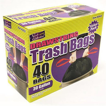 Nicole Home Collection 02023 30 Gallon DrawStorageing Trash Bags - 400 Per Case