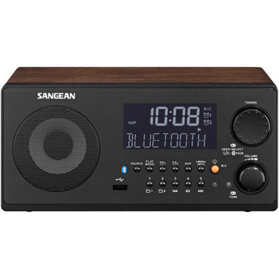 Sangean WR-22WL FM-RBDS/AM/USB/Bluetooth Digital Receiver, Walnut