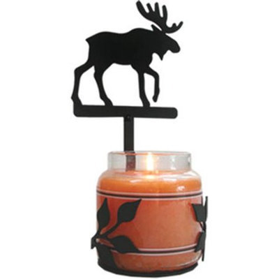 Village Wrought Iron C-LJS-19 Moose Large Jar Sconce