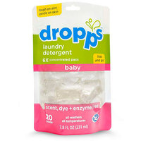 Dropps Baby Laundry Detergent Pods, Scent, Dye & Enzyme Free