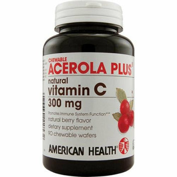 American Health Acerola Plus Natural Vitamin C Chewable Berry 300 mg 90 Chewable Wafers