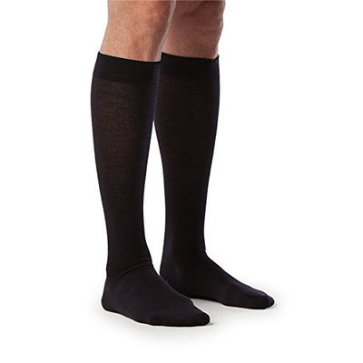 Sigvaris All Season Wool 242CLLM99 20-30mm. Hg Large Long Mens Calf Black