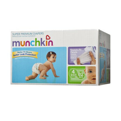 Munchkin Super Premium Diapers Box Pack - Size 4 (82 Count)