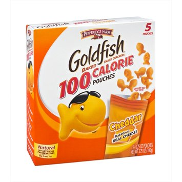 Pepperidge Farm Goldfish 100 Calorie Cheddar Snack Cracker Pouches - 5 CT