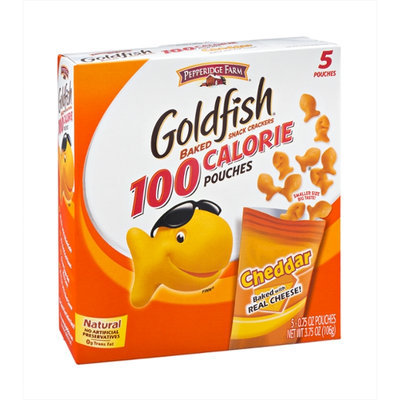 Pepperidge Farm Goldfish 100 Calorie Cheddar Snack Cracker Pouches - 5 CT
