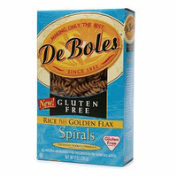 DeBoles Rice and Golden Flax Spiral Pasta