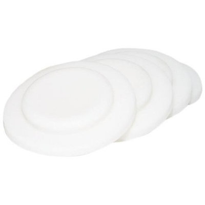 organicKidz 4 Pack Wide Mouthed Bottle Sealing Disks, White (Discontinued by Manufacturer)