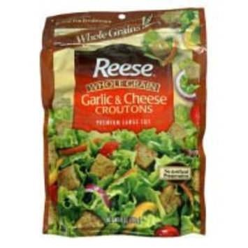 Reese Croutons Whole Grain Garlic and Cheese 6 oz. (Pack of 12)