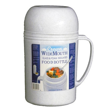 Waterbury Garment 0.5L Wide Mouth Glass Vacuum/Foam Insulated Food Thermos