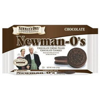 Newman's Own man's Own Organics Newman O's, Chocolate Creme Filled Chocolate Cookies, 9-Ounce Packages (Pack of 6)