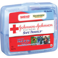 BAND-AID Johnson and Johnson Red Cross Portable Travel First Aid Kit