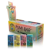 Mr. Pumice Pumi Bar Regular Size ( Assorted Colors ) 1 Box (24 Counts)