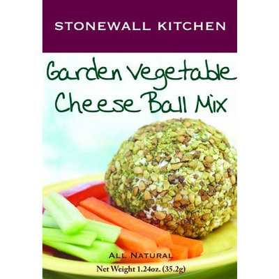 Stonewall Kitchen Garden Vegetable Cheese Ball Mix, 1.24-Ounce Boxes (Pack of 6)