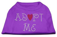 Mirage Pet Products 5201 XSPR Adopt Me Rhinestone Shirt Purple XS 8
