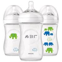 Phillips Philips Avent Elephant Natural Bottles, 9 oz, 3 count