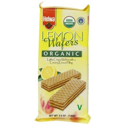 Helwa Organic Wafers, Lemon, 3.5-Ounce Packages (Pack of 12)