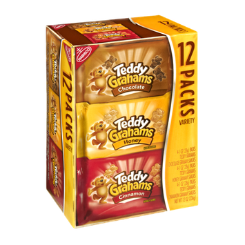 Nabisco Teddy Grahams Chocolate/ Honey/ Cinnamon Variety Pack