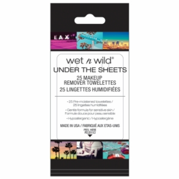 Wet 'n' Wild Wet n Wild Under the Sheets Makeup Remover Towelettes, Makeup Remover Wipes, 25 ea