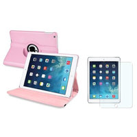Insten INSTEN Light Pink 360 Leather Stand Case Cover+Matte Guard For Apple iPad Air 5 5th Gen