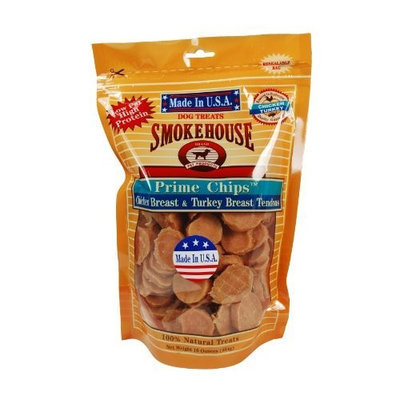 Smokehouse 100-Percent Natural Prime Chips Chicken and Turkey Dog Treats, 16-Ounce