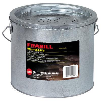 Frabill Galvanized 2-Piece 8 Quart Floating Bucket