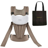 Britax K011005KIT1 - Front Soft Organic Baby Carrier in Tan with a Black Non Or