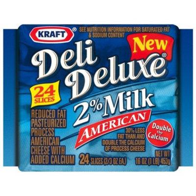 Kraft Deli Deluxe 2% Milk American Cheese Slices 16 oz 24 ct