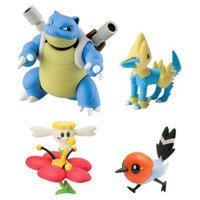 Tomy Pokemon 4 Figure Gift Pack - Blastoise, Flabebe, Fletching and