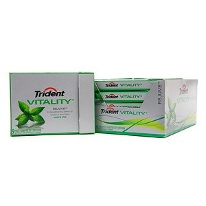 Trident VITALITY Sugar Free Gum  (10 Packs)