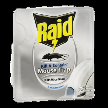 Raid Mouse Trap Kill & Contain Disposable - 2 CT